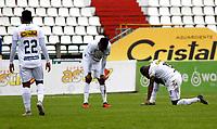 MANIZALES - COLOMBIA, 05-09-2021:Once Caldas y Atlético Bucaramanga en partido por la fecha 8 como parte de la Liga BetPlay DIMAYOR II 2021 jugado en el estadio Palogrande  de la ciudad de Manizales. / Once Caldas and Atletico Bucaramanga in match for the date 8 as part of the BetPlay DIMAYOR League II 2021 played at Palogrande stadium in Manizales city. Photo: VizzorImage / John Jairo Bonilla / Contribuidor