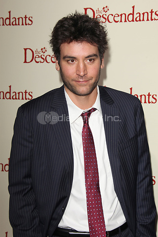 Josh Radnor at the Los Angeles Premiere of 'The Descendants' at AMPAS Samuel Goldwyn Theater on November 15, 2011 in Beverly Hills, California © mpi21/MediaPunch Inc.