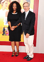 NEW YORK CITY, NY, USA - AUGUST 04: Oprah Winfrey, Steven Spielberg at the World Premiere Of Dreamworks Pictures' 'The Hundred-Foot Journey' held at Ziegfeld Theatre on August 4, 2014 in New York City, New York, United States. (Photo by Celebrity Monitor)