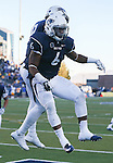 Nevada running back Don Jackson (6) celebrates his touchdown against San Jose State with teammate Hasaan Henderson (12) during the second half of an NCAA college football game in Reno, Nev., on Saturday, Nov. 14, 2015. The touchdown forced the game into overtime. (AP Photo/Cathleen Allison)