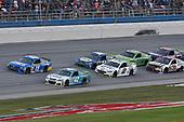 Monster Energy NASCAR Cup Series<br /> Alabama 500<br /> Talladega Superspeedway<br /> Talladega, AL USA<br /> Sunday 15 October 2017<br /> Kyle Larson, Chip Ganassi Racing, First Data Chevrolet SS, Daniel Suarez, Joe Gibbs Racing, Camping World Toyota Camry, Brad Keselowski, Team Penske, Miller Lite Ford Fusion, and Chase Elliott, Hendrick Motorsports, NAPA Chevrolet SS<br /> World Copyright: Rusty Jarrett<br /> LAT Images