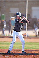 Dawson Evenson (54), from Clatskanie, Oregon, while playing for the Giants during the Under Armour Baseball Factory Recruiting Classic at Gene Autry Park on December 30, 2017 in Mesa, Arizona. (Zachary Lucy/Four Seam Images)