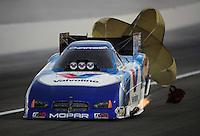 Nov. 1, 2008; Las Vegas, NV, USA: NHRA funny car driver Jack Beckman during qualifying for the Las Vegas Nationals at The Strip in Las Vegas. Mandatory Credit: Mark J. Rebilas-