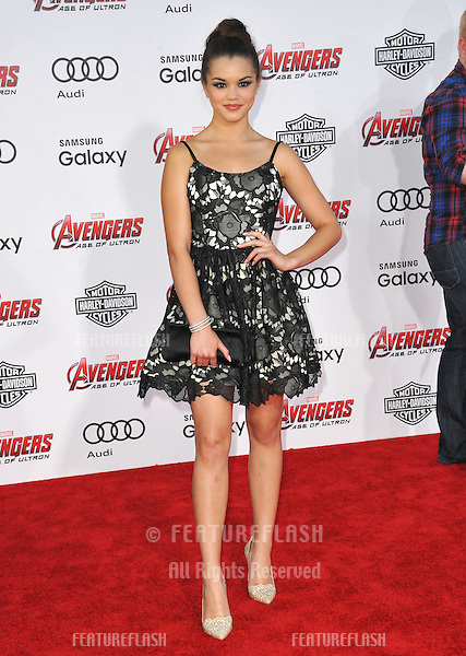 """Paris Berelc at the world premiere of """"Avengers: Age of Ultron"""" at the Dolby Theatre, Hollywood.<br /> April 13, 2015  Los Angeles, CA<br /> Picture: Paul Smith / Featureflash"""