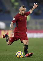 Calcio, Serie A: AS Roma - Sampdoria, Roma, stadio Olimpico, 28 gennaio 2018.<br /> Roma's Radja Nainggolan in action during the Italian Serie A football match between AS Roma and Sampdoria at Rome's Olympic stadium, January 28, 2018.<br /> UPDATE IMAGES PRESS/Isabella Bonotto