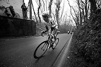 53rd Brabantse Pijl 2013..Kenny Dehaes (BEL) up the Hagaard