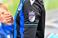illustration picture showing the Scooore Super League Logo on the shirt during a female soccer game between Club Brugge Dames YLA and Zulte Waregem Ladies on the third matchday of the 2020 - 2021 season of Belgian Scooore Womens Super League , saturday 3 October 2020  in Brugge , Belgium . PHOTO SPORTPIX.BE | SPP | DAVID CATRY