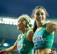 2nd May 2021; Silesian Stadium, Chorzow, Poland; World Athletics Relays 2021. Day 2; Kate Doherty and Aoife Lynch after winning Silver in the women's 4 x 200