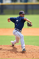 FCL Tigers East pitcher Carlos Pena (7) during a game against the FCL Yankees on July 27, 2021 at the Yankees Minor League Complex in Tampa, Florida. (Mike Janes/Four Seam Images)