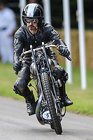 Ian Bain riding a 1924 Brough Superior KTOP, 998cc twin -cylinder four-stroke, at Goodwood Festival of Speed 2016 at Goodwood, Chichester, England on 24 June 2016. Photo by David Horn / PRiME Media Images