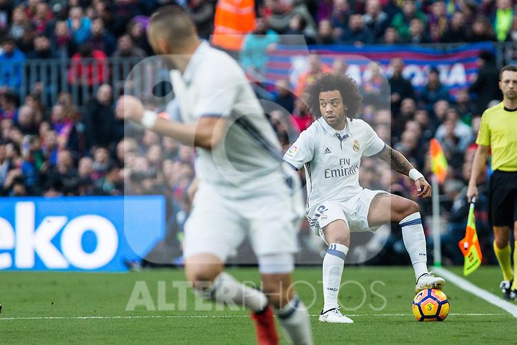 Real Madrid's Marcelo Vieira during spanish La Liga match between Futbol Club Barcelona and Real Madrid  at Camp Nou Stadium in Barcelona , Spain. Decembe r03, 2016. (ALTERPHOTOS/Rodrigo Jimenez)