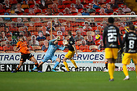 2nd October 2020; Tannadice Park, Dundee, Scotland; Scottish Premiership Football, Dundee United versus Livingston; Jon Guthrie of Livingston scores an equaliser to level the score at 1-1 in the 52nd minute