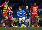 St Johnstone v Partick Thistle…02.03.16  SPFL McDiarmid Park, Perth<br />David Wotherspoon passes the ball to Graham Cummins who drags his shot wide<br />Picture by Graeme Hart.<br />Copyright Perthshire Picture Agency<br />Tel: 01738 623350  Mobile: 07990 594431