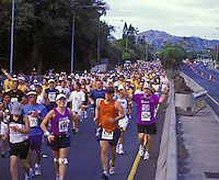 Runners at the Honolulu Marathon