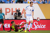Action photo during the match Uruguay vs Venezuela at Lincoln Financial Field Stadium Copa America Centenario 2016. ---Foto  de accion durante el partido Uruguay vs Venezuela, En el Estadio Lincoln Financial Field Partido Correspondiante al Grupo - C -  de la Copa America Centenario USA 2016, en la foto: Diego Godin<br /> --- 09/06/2016/MEXSPORT/Osvaldo Aguilar.