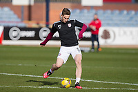 13th March 2021; Dens Park, Dundee, Scotland; Scottish Championship Football, Dundee FC versus Arbroath; Thomas O'Brien of Arbroath during the warm up before the match