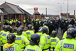 © Joel Goodman - 07973 332324 - all rights reserved . 20/03/2010 . Bolton , UK . The English Defence League ( EDL ) hold a demonstration in Bolton , opposed by Unite Against Fascism ( UAF ) . Photo credit : Joel Goodman