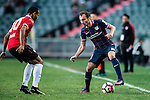 Daniel Cancela of SC Kitchee (r) in action during the 2017 Lunar New Year Cup match between SC Kitchee (HKG) vs Muangthong United (THA) on January 28, 2017 in Hong Kong, Hong Kong. Photo by Marcio Rodrigo Machado/Power Sport Images