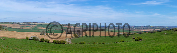 26-4-2021 Farmland on the Lincolnshire Wolds<br /> ©Tim Scrivener Photographer 07850 303986<br />      ....Covering Agriculture In The UK....
