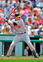24 May 2009: Baltimore Orioles' right fielder Nolan Reimold in action against the Washington Nationals at Nationals Park in Washington, DC. The Nationals rallied to defeat the Orioles 8-5 and salvage a win in their interleague series. Mandatory Credit: Ed Wolfstein Photo