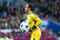 Claudio Bravo of Manchester City gets rid of the beach ball during the Fly Emirates FA Cup Fourth Round match between Cardiff City and Manchester City at the Cardiff City Stadium, Wales, UK. Sunday 28 January 2018