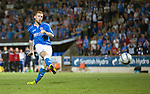 St Johnstone v FC Luzern...24.07.14  Europa League 2nd Round Qualifier<br /> Liam Caddis scores his penalty<br /> Picture by Graeme Hart.<br /> Copyright Perthshire Picture Agency<br /> Tel: 01738 623350  Mobile: 07990 594431