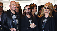 HOLLYWOOD, LOS ANGELES, CA, USA - JULY 07: John Varvatos, Ringo Starr, Barbara Bach at the announcement of special collaboration of John Varvatos and Ringo Starr on occasion of Ringo's birthday at Capitol Records Studio on July 7, 2014 in Hollywood, Los Angeles, California, United States. (Photo by Xavier Collin/Celebrity Monitor)