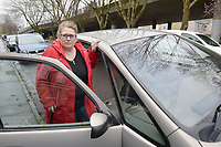 2017 03 05 Maria Jones forced to live in her car, newport, Wales, UK