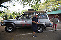 03/09/15<br /> <br /> Toby Kilner in Paramaribo, Suriname, with his 1991, 470,000 mile, Toyota Land Cruiser which is being used as the support vehicle for The Great Amazon Adventure. <br /> <br /> The Bespoke Rallies, month-long event, which starts tomorrow, will see a selection of classic and modern cars attempt to cross from the Atlantic to the Pacific through the rainforests and mountains of South America.<br /> <br /> All Rights Reserved: F Stop Press Ltd. +44(0)1335 418365   +44 (0)7765 242650 www.fstoppress.com