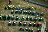aerial photograph used combines farm equipment Nebraska