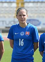 20180307 - LARNACA , CYPRUS :  Slovakian Diana Bartovicova pictured during a women's soccer game between  Slovakia and the Czech Republic , on Wednesday 7 March 2018 at the GSZ Stadium in Larnaca , Cyprus . This is the final game in a decision for 9 th or 10 th place of the Cyprus Womens Cup , a prestigious women soccer tournament as a preparation on the World Cup 2019 qualification duels. PHOTO SPORTPIX.BE   DAVID CATRY