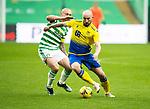 Celtic v St Johnstone…12.05.21  SPFL Celtic Park<br />Chris Kane and Scott Brown<br />Picture by Graeme Hart.<br />Copyright Perthshire Picture Agency<br />Tel: 01738 623350  Mobile: 07990 594431