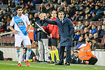 FC Barcelona Head Coach Ernesto Valverde (R) gestures during the La Liga 2017-18 match between FC Barcelona and Deportivo La Coruna at Camp Nou Stadium on 17 December 2017 in Barcelona, Spain. Photo by Vicens Gimenez / Power Sport Images