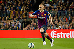Andres Iniesta of FC Barcelona runs with the ball during the La Liga match between Barcelona and Real Sociedad at Camp Nou on May 20, 2018 in Barcelona, Spain. Photo by Vicens Gimenez / Power Sport Images