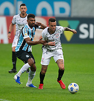 28th August 2021; Arena do Gremio, Porto Alegre, Brazil; Brazilian Serie A, Gremio versus Corinthians; Thiago Santos of Gremio and Giuliano of Corinthians