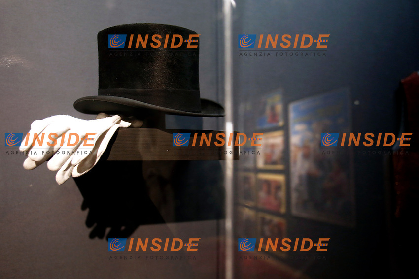 The hat used in the film Gastone, during the opening of the actor Alberto Sordi''s house museum in Rome. In occasion of the centenary of his  birth, the villa in the heart of Rome, where he lived from 1959 to death, was opened to the public, becoming a house-museum. The house still contains thousand of objects belonged to the actor. In the garden two more tensile structures were added, containing stage clothes, posters of his films, photos and much more. <br /> Rome (Italy), September 15th 2020<br /> Photo Samantha Zucchi Insidefoto