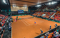 The Hague, The Netherlands, September 15, 2017,  Sportcampus , Davis Cup Netherlands - Chech Republic, Seccond Rubber: Overall view<br /> Photo: Tennisimages/Henk Koster