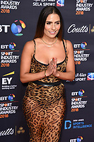 Layla Anna-Lee<br /> arriving for the BT Sport Industry Awards 2018 at the Battersea Evolution, London<br /> <br /> ©Ash Knotek  D3399  26/04/2018