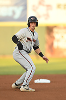 Adley Rutschman (37) of the Delmarva Shorebirds in action during game one of the Northern Division, South Atlantic League Playoffs against the Hickory Crawdads at L.P. Frans Stadium on September 4, 2019 in Hickory, North Carolina. The Crawdads defeated the Shorebirds 4-3 to take a 1-0 lead in the series. (Tracy Proffitt/Four Seam Images)