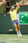 March 12, 2018: Fernando Verdasco (ESP) defeated by Taylor Fritz (USA) 4-6, 6-2, 7-6(1) at the BNP Paribas Open played at the Indian Wells Tennis Garden in Indian Wells, California. ©Mal Taam/TennisClix/CSM