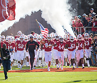 STANFORD, CA - September 15, 2018: David Shaw, Colby Parkinson, Drew Dalman, Nate Herbig, Casey Toohill, Caleb Kelly at Stanford Stadium. The Stanford Cardinal defeated UC Davis, 30-10.