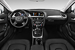 Stock photo of straight dashboard view of 2015-2016 Audi A4 Premium 4 Door Sedan