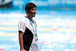 Norimasa Hirai Coach (JPN), JULY 31, 2013 - Swimming : Japan's coach Norimasa Hirai smiles at the 15th FINA Swimming World Championships at Palau Sant Jordi arena in Barcelona, Spain. (Photo by Daisuke Nakashima/AFLO)