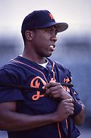 Deivi Cruz of the Detroit Tigers during a 2000 season MLB game at Angel Stadium in Anaheim, California. (Larry Goren/Four Seam Images)