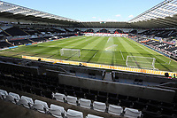 Pictured: Liberty stadium.<br /> Saturday 20 April 2013<br /> Re: Barclay's Premier League, Swansea City FC v Southampton at the Liberty Stadium, south Wales.