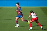 Liga IBERDROLA 2020-2021. Jornada: 10<br /> FC Barcelona vs Santa Teresa: 9-0.<br /> Melanie Serrano vs Mireya Garcia.