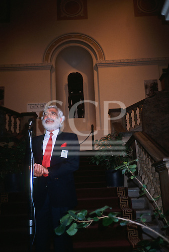 England. Ed Posey speaking at an event.