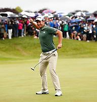 4th July 2021; Mount Juliet Golf Club, Kilkenny, Ireland; Dubai Duty Free Irish Open Golf, Day Four; Lucas Herbert of Australia celebrates winning the Irish Open