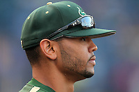 """University of South Florida Andrew Barbosa #51 during a game vs. the Miami Hurricanes in the """"Florida Four"""" at George M. Steinbrenner Field in Tampa, Florida;  March 1, 2011.  USF defeated Miami 4-2.  Photo By Mike Janes/Four Seam Images"""