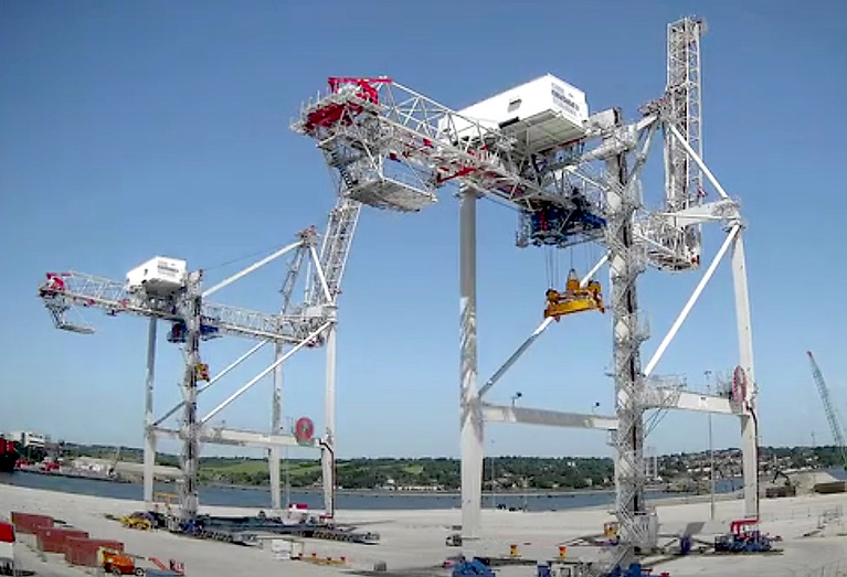 The Port of Cork's two Ship to Shore (STS) Gantry Cranes